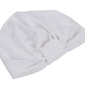 110 : Bonnet turban éponge avec nœud - Éponge bouclette extensible