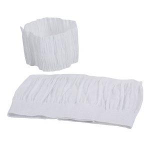 232 : Bande charlotte élastique / 237 bandeau élastique froncé - Velcro - Tissu imperméabilisé résistant aux corps gras - largeur 8cm ou 15cm - excellent maintien de la coiffure