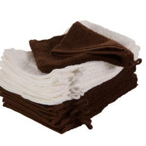 3342 Gant de toilette - 420g - lot de 10 - blanc ou chocolat