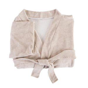 224 Peignoir Vichy : Kimono - Éponge bouclette extensible 80%coton 20%Polyester