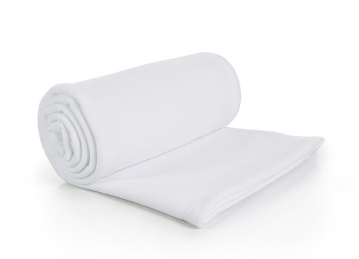 3321 : Couverture polaire - blanc - 150x180 - 100% polyester