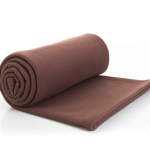 3321 : Couverture polaire - marron - 150x180 - 100% polyester