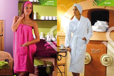 modernisation des gammes de linge éponge pour l'hôtel et le spa, l'institut de beauté