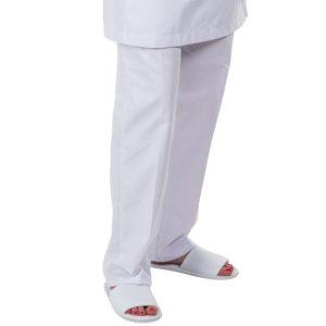 Pantalon - ceinture élastique - blanc - sans poche